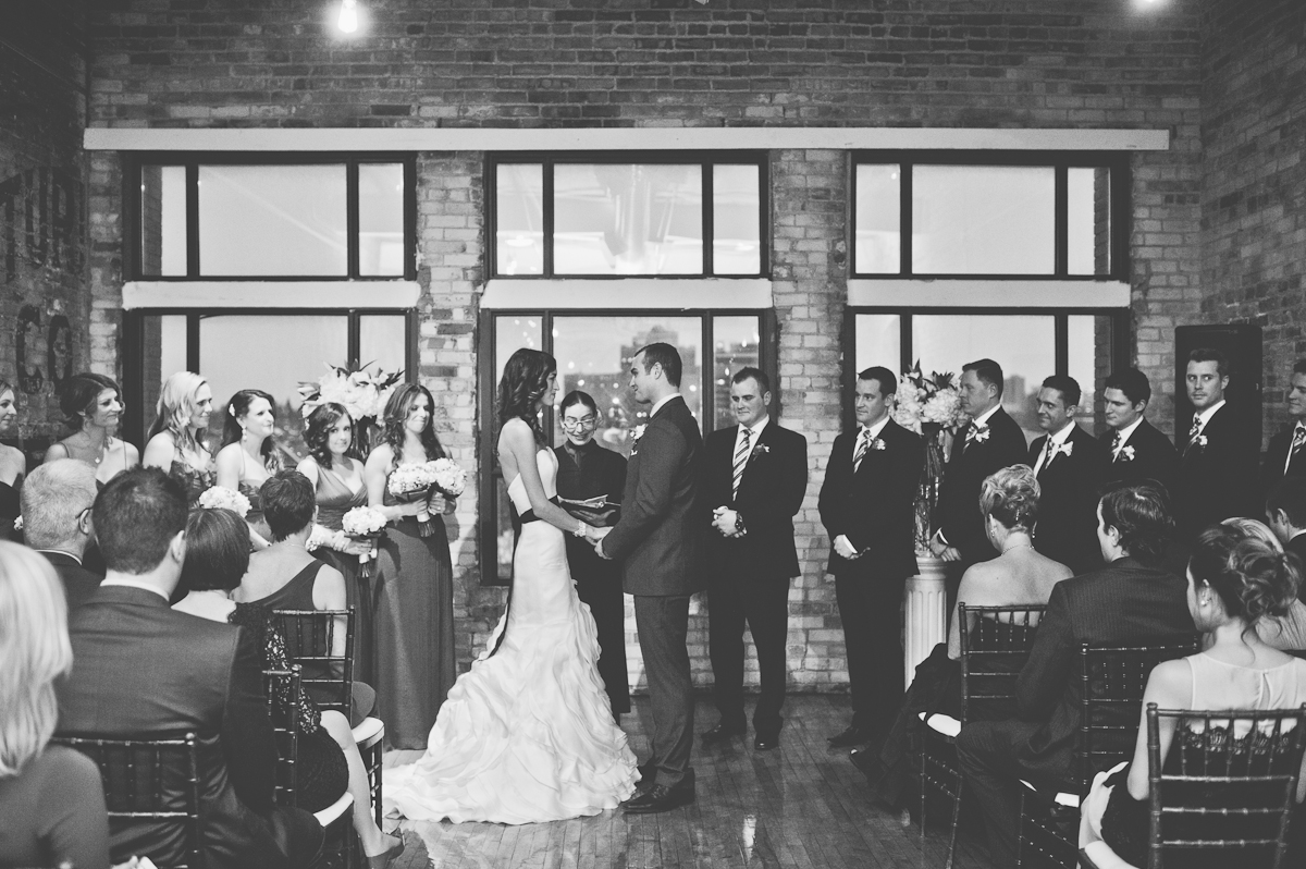 tara mcmullen photography katie and colin's wedding photos burroughs building wedding toronto winter wedding in toronto black sash wedding dress brickworks wedding photography-23