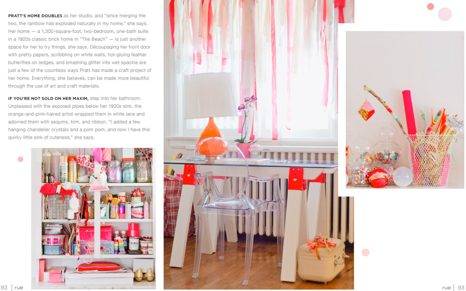 tara mcmullen photography tiffany pratt's home in rue magazine rue magazine color issue tiffany pink hair glitter suite-3