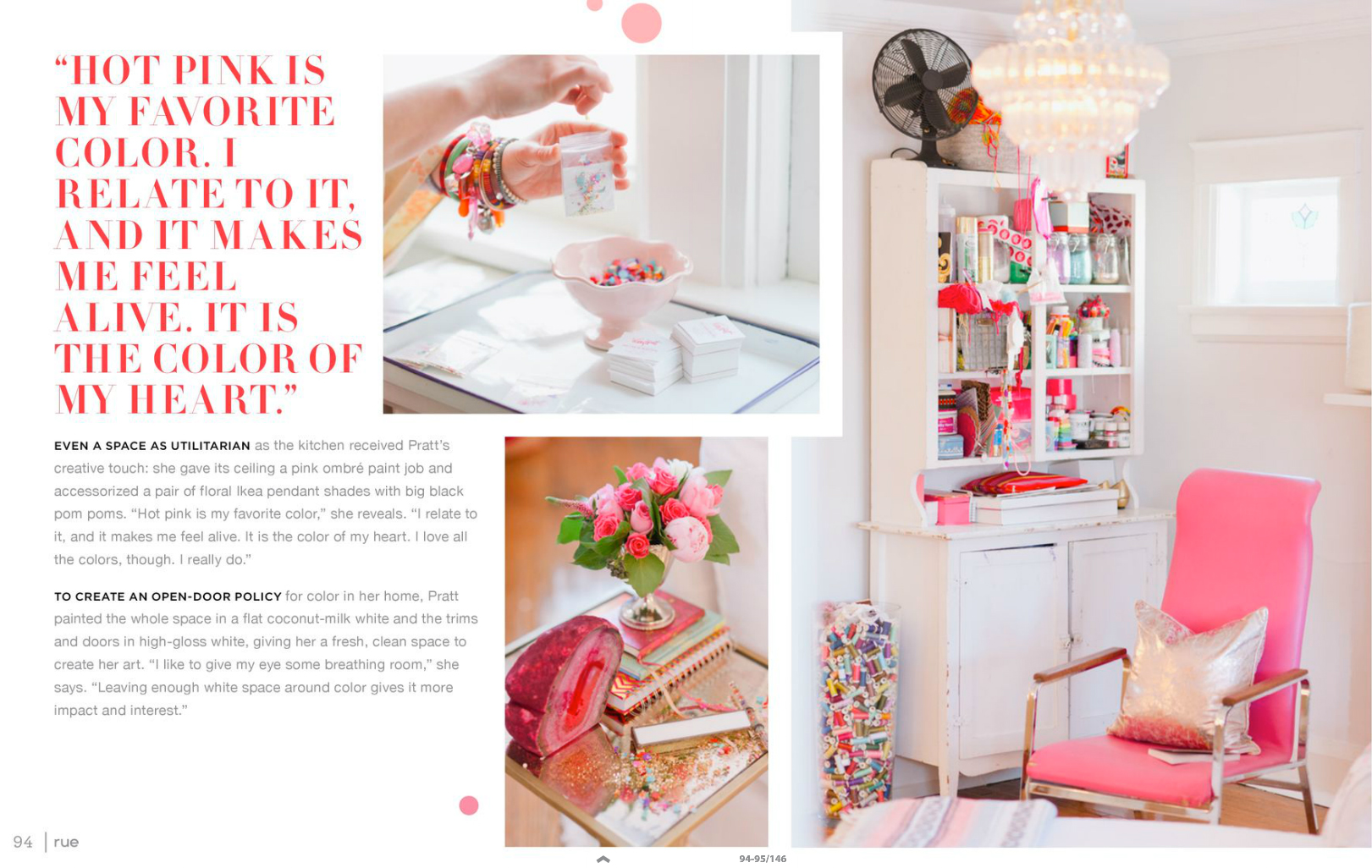 tara mcmullen photography tiffany pratt's home in rue magazine rue magazine color issue tiffany pink hair glitter suite-4