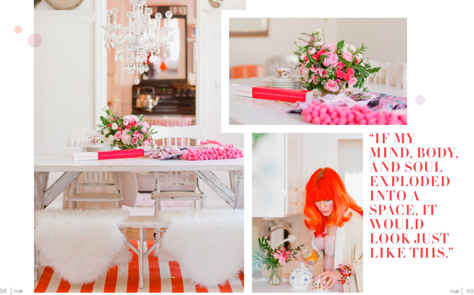tara mcmullen photography tiffany pratt's home in rue magazine rue magazine color issue tiffany pink hair glitter suite-5