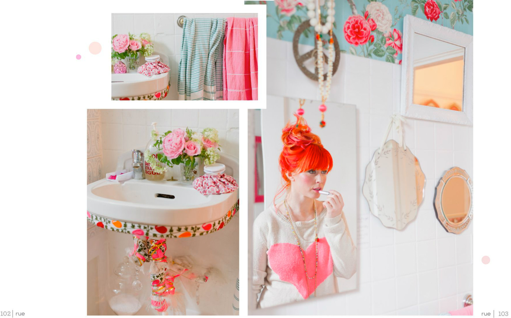 tara mcmullen photography tiffany pratt's home in rue magazine rue magazine color issue tiffany pink hair glitter suite-6