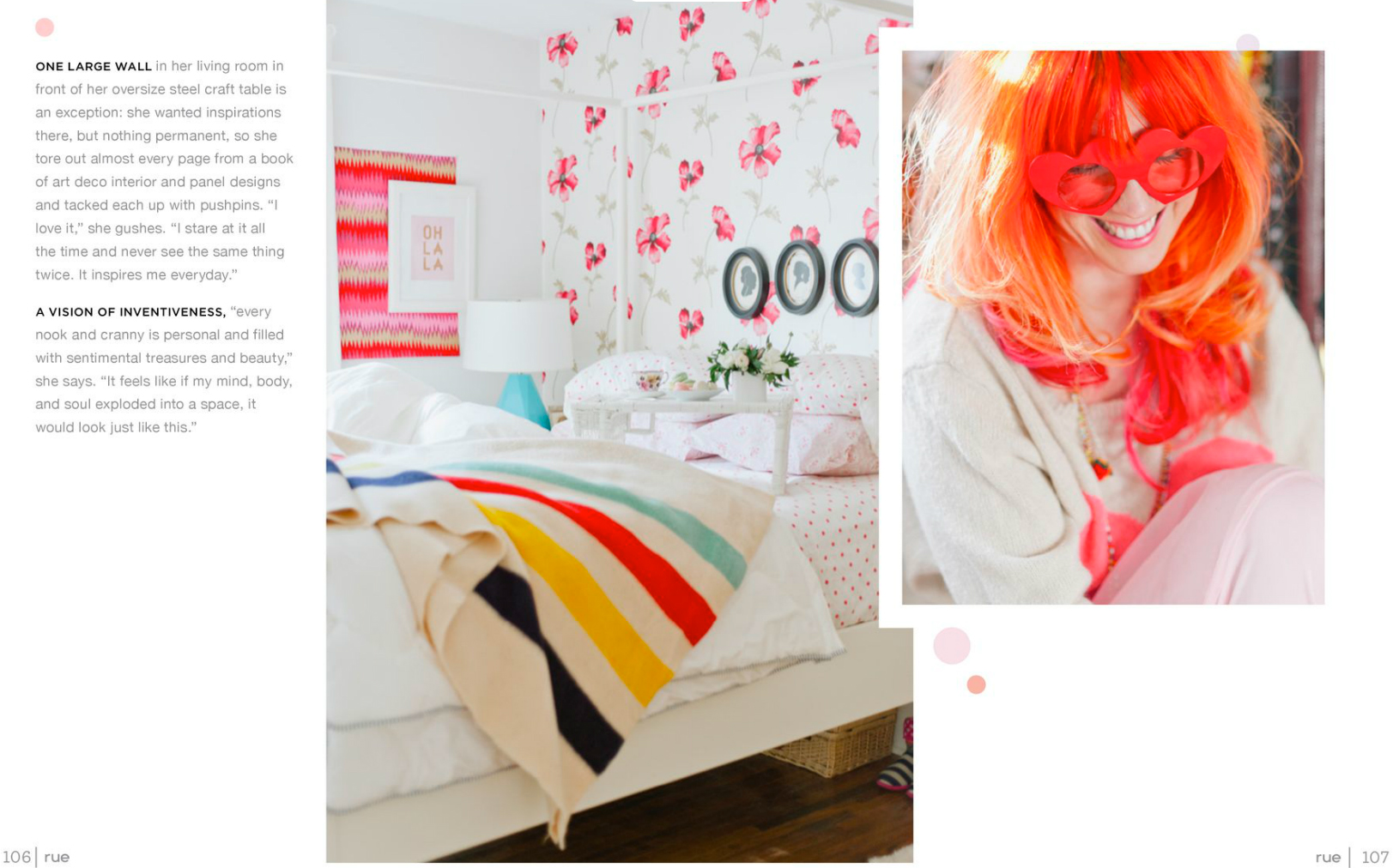 tara mcmullen photography tiffany pratt's home in rue magazine rue magazine color issue tiffany pink hair glitter suite-8